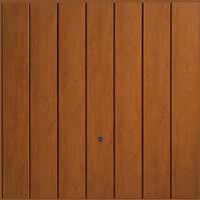 Hormann Series 2000 steel up and over garage doors Vertical Decograin Golden Oak